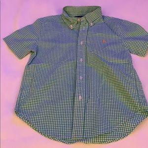 Ralph Lauren short sleeve button down shirt.